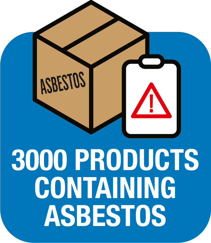 3000 products containing asbestos