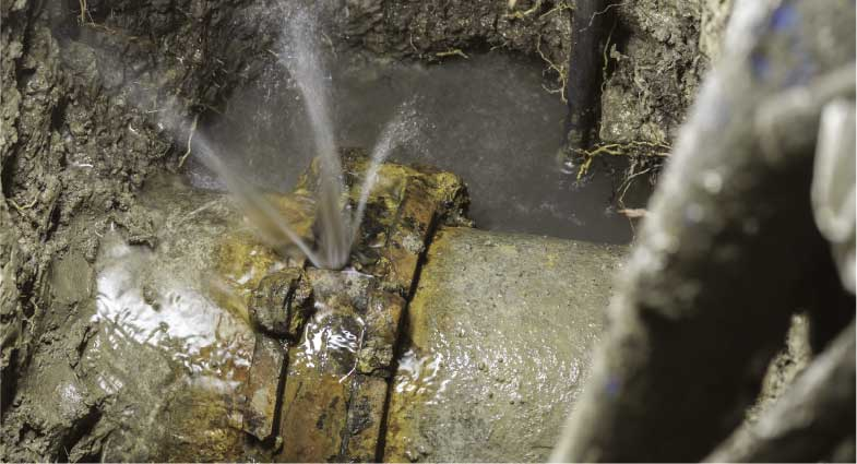 Asbestos cement water and sewer pipes